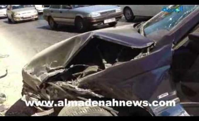 شارع الموت مرة أخرى   : إصابة 5 أشخاص بتصادم 5 سيارات في نزول صافوط
