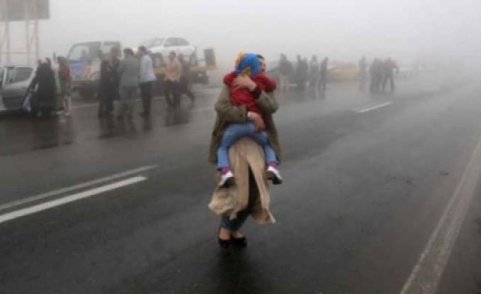 بالفيديو .... 40 قتيلا باصطدام 130 سيارة في إيران