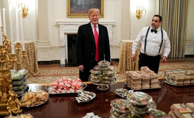 ترامب سمين.. يعشق البرغر وينفر من الرياضة