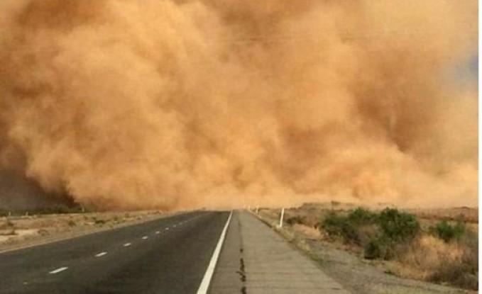 غبار كثيف في الجنوب والامن يحذر