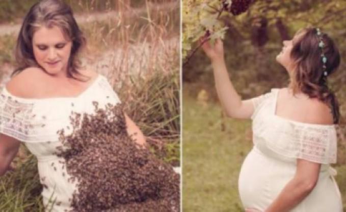 """بعد صور النحل يغزو بطنها.. فاجعة تُصيب الأم """"الشهيرة""""!"""