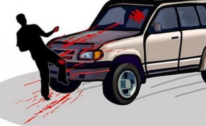 """سيارة تدهس مواطن وزوجته """" الحامل """" في بني كنانة"""