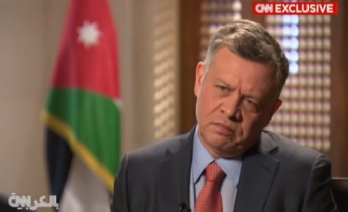 """الملك لـ """"سي أن أن"""": """"داعش"""" حاولت تخويف الأردنيين فانقلب السحر على الساحر"""
