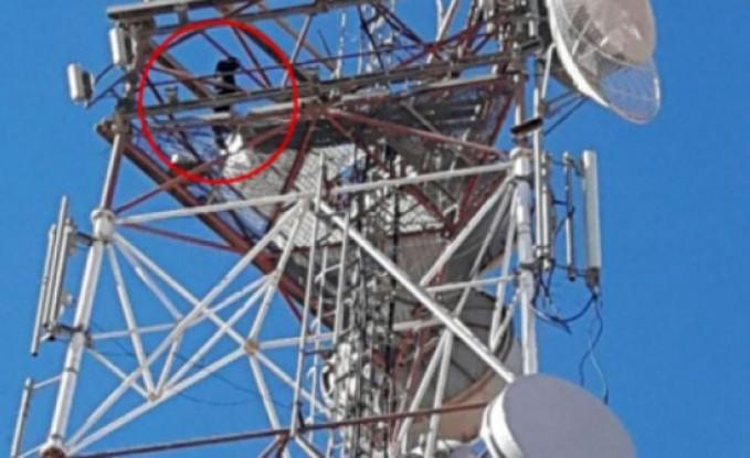الرمثا : إنقاذ عامل من قمة برج اتصالات