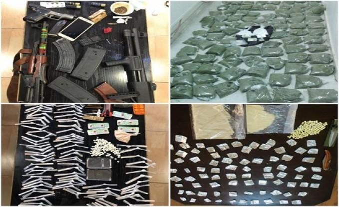 القبض على 14 متورطا بقضايا مخدرات