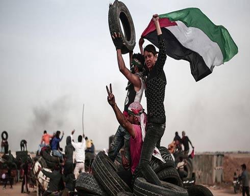 56 إصابة باعتداءات إسرائيلية على مسيرة العودة في غزة