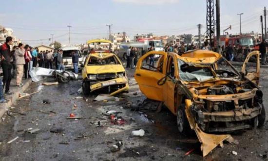 التلفزيون السوري: 5 قتلى في انفجار استهدف حافلة في حمص