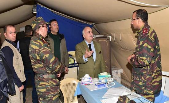 الأمير حسن يزور المستشفى العسكري المغربي في مخيم الزعتري