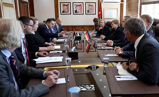 مباحثات أردنية ألمانية لدعم الموازنة العامة وقطاعي المياه والتعليم
