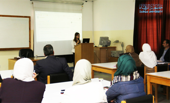 جامعة الزرقاء تقيم ورشة عمل حول كيفية استخدام قواعد البيانات