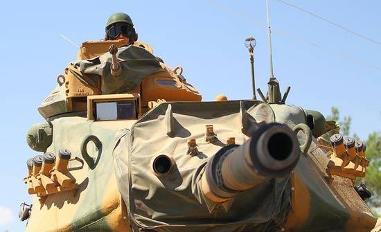 """المدفعية التركية تقصف مواقع """" ب ي د/ بي كا كا"""" العسكرية بمنطقة عفرين"""