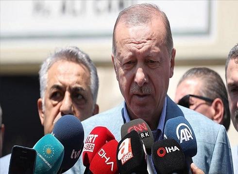 """أردوغان: مقتل 3 سوريين في انفجار """"ريحانلي"""""""