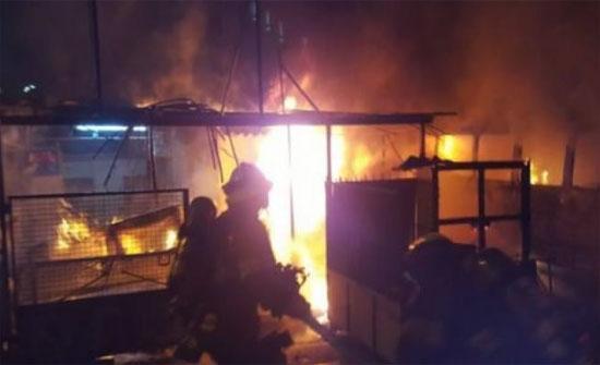 وفاة طفلة إثر حريق كرفان في الزعتري