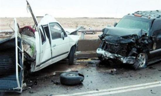 وفاة شاب و4 إصابات   في حادث تصادم مروع في البادية الشمالية