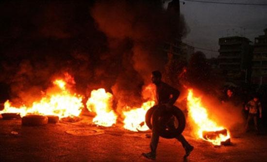 بالفيديو : الامن يسيطر على شغب بيت راس على خلفية جريمة مقتل خمسيني
