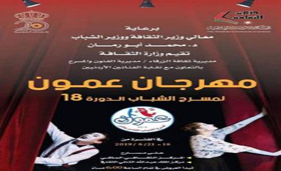 مهرجان عمون لمسرح الشباب ينطلق الأحد المقبل