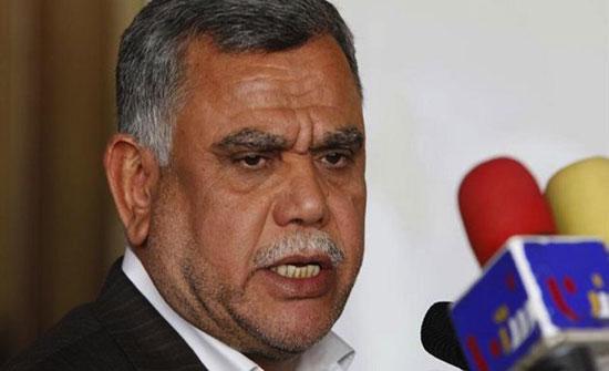 العامري: رئيس الوزراء العراقي هو من رشح الفياض للداخلية