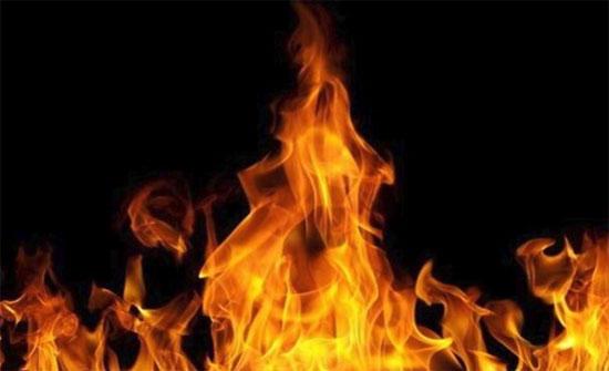 حريق في مديرية أوقاف اربد