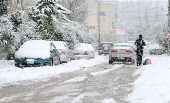 الارصاد الجوية : منخفض الخميس .. و ثلوج فوق 1100م  فجر الجمعة