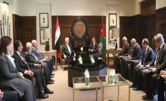 الملك : الأردن والعراق يقفان في خندق واحد في مواجهة خطر الإرهاب