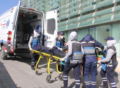 تمرين لحادث وهمي على مبنى الملكية الأردنية في الدوار الخامس