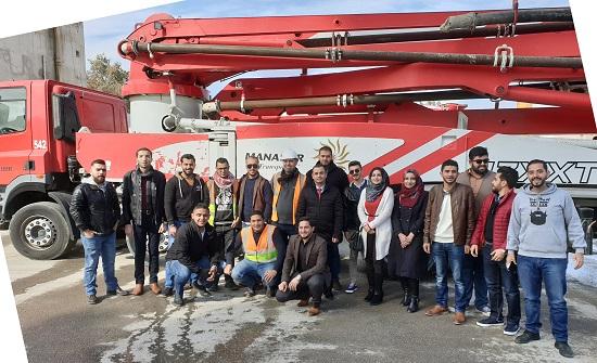"""طلبة الهندسة في """"عمان العربية"""" يطلعون على استخدام التكنولوجيا في انتاج مواد البناء"""