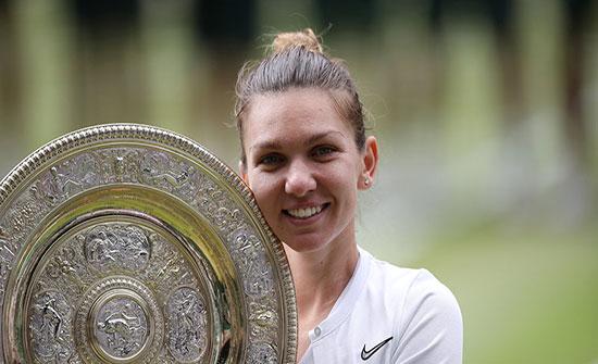 سيمونا هاليب تهزم سيرينا وليامز وتصبح أول رومانية تحرز لقب الفردي في بطولة ويمبلدون للتنس