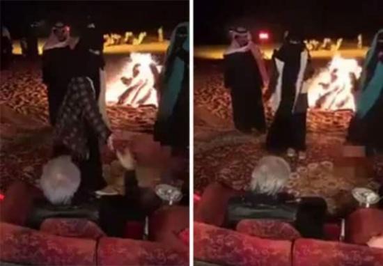 شاهد .. شاعرات يلقين قصائد أمام الوليد بن طلال خلال نزهة برية في رماح