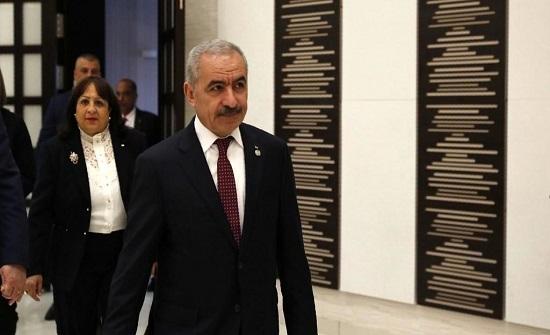 رئيس الوزراء الفلسطيني يزور الأردن السبت