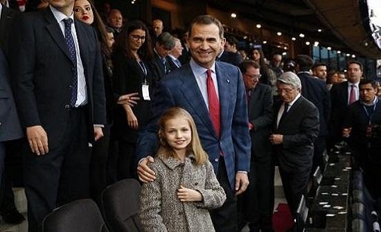 ملك إسبانيا يسمّي ابنته وريثة للعرش