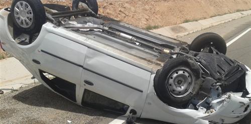 6 إصابات بحادث تدهور على طريق اربد عمان