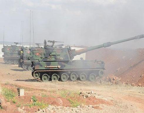 المدفعية والدبابات التركية تستهدف مواقع الإرهابيين في عفرين