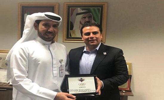 الأولمبية الأردنية تناقش سبل التعاون مع نظيرتها الإماراتية