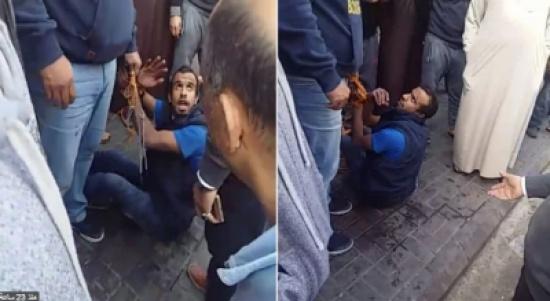 بالفيديو: علقة ساخنة من المصريين بالسعودية للص حاول سرقة سيارة بداخلها طفل