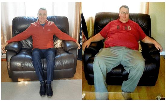 خسر 80 كيلو من وزنه بطريقة سهلة
