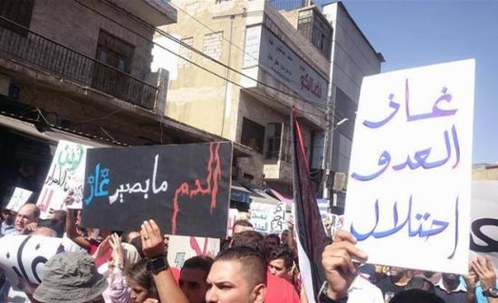 """صور : مسيرة """"غاز العدو احتلال"""" من النقابات الى الرابع"""