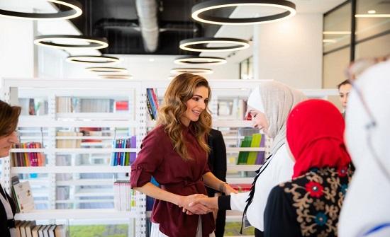 الملكة رانيا في السلط
