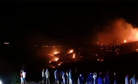 """بالفيديو : تحطم """"جسم حربي طائر"""" شمال قبرص بعد غارات إسرائيلية على سوريا يثير التساؤلات"""