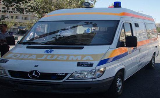 الزرقاء : اصابة 4 اشخاص بحادث تدهورفي منطقة مدينة الشرق