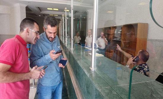 بالفيديو : أول أردني يعبر نصيب ..  انتظر الليل ليعبر إلى سوريا