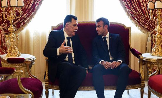 السراج وماكرون يبحثان الأوضاع في ليبيا وتداعيات المعارك في طرابلس