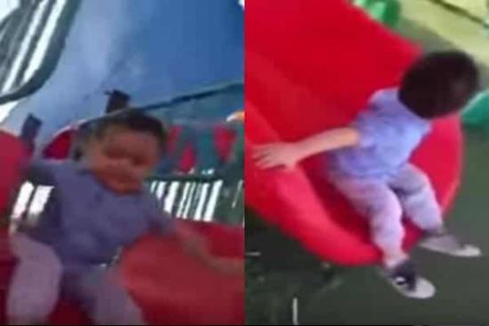 بالفيديو.. شاهد ردة فعل طفل يلهو عند سماعه الأذان