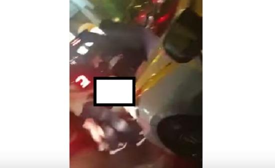 بالصور : مشاجرة نسائية في شارع الجاردنز بعمان