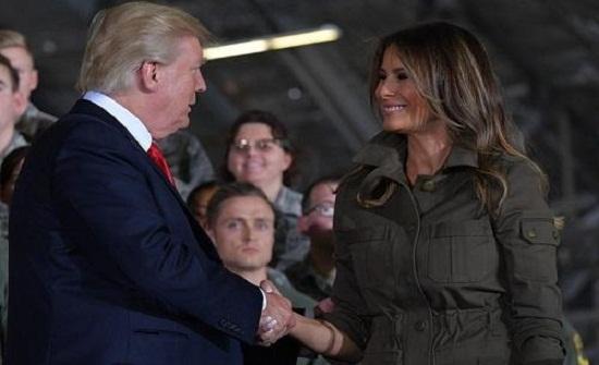 ترامب يثير الجدل مع زوجته - فيديو