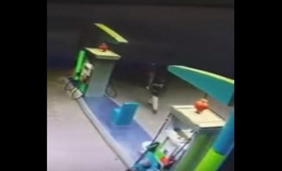 لحظة سطو مسلح على محطة وقود بالسعودية (فيديو)