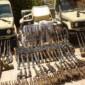 العثور على 16 سيارة اردنية محملة بالاسلحة في الموصل