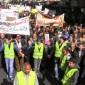 بالفيديو : شاهدوا مسيرة الجمعة التي انطلقت من أمام المسجد الحسيني وسط البلد
