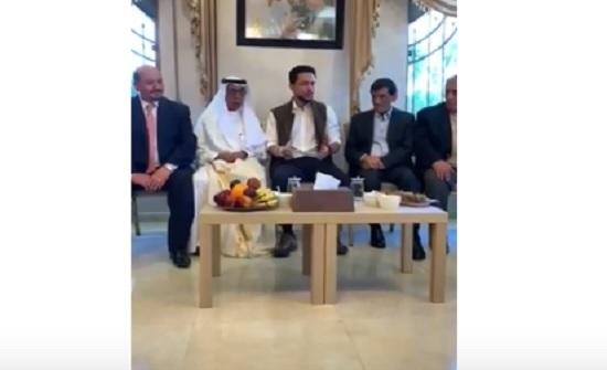 الامير حسين يلتقي عدد من ابناء عشائر العجارمة - فيديو وصور