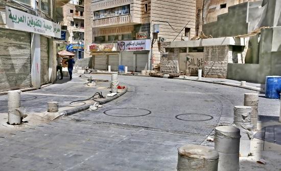 الأمانة تضع اللمسات النهائية على مشروع تطوير شارع الملك غازي وسط البلد