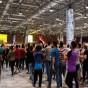 متظاهرون في صالة مطار النجف